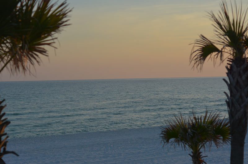 Sunset view at The Shores in Panama City Beach FL