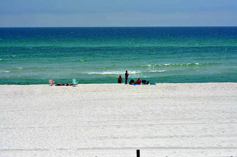 The beach at The Shores in Panama City Beach FL