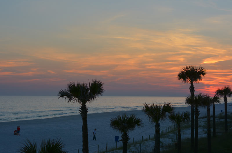 Sunset at the beach at The Shores in Panama City Beach FL