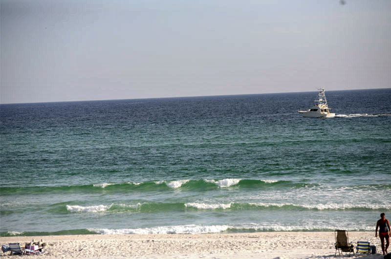Beach view at The Shores in Panama City Beach FL