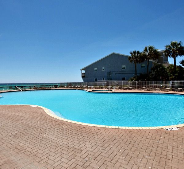 One of 3 sparkling pools at Tidewater Beach Resort in Panama City Beach FL