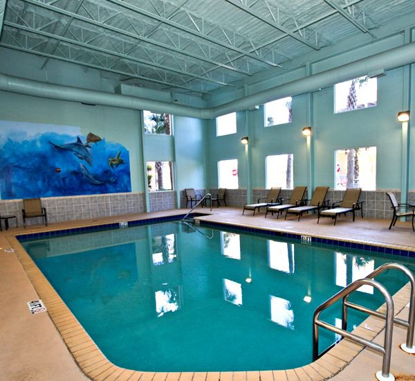 Large indoor pool at Tidewater Beach Resort in Panama City Beach Florida