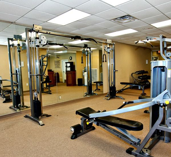 Fitness center at Tidewater Beach Resort in Panama City Beach Florida