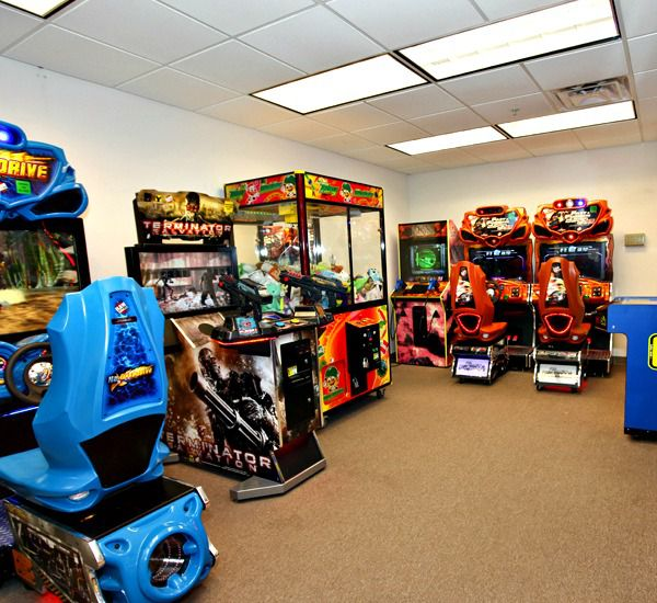 Gameroom entertains kids at Tidewater Beach Resort in Panama City Beach Florida