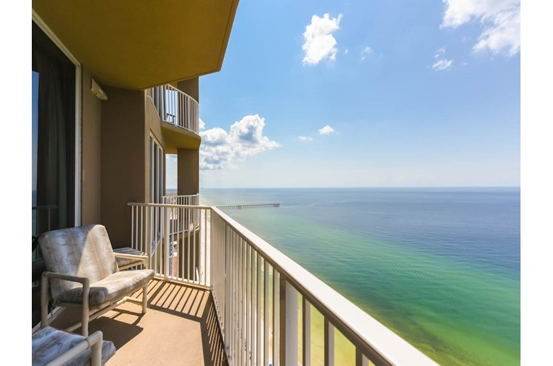 Every condo faces the Gulf and has a private balcony with magnificent sweeping views at Tidewater Beach Resort in Panama City Beach Florida