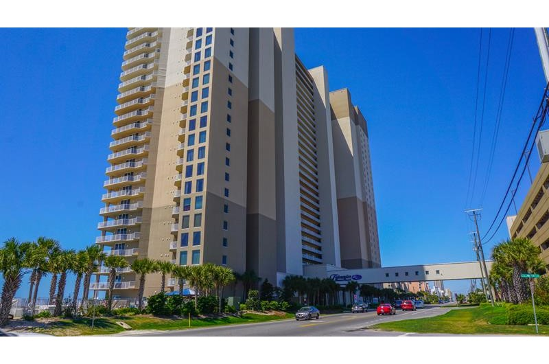 Tidewater in Panama City Beach Florida is located directly on the beach with walkover to the parking deck
