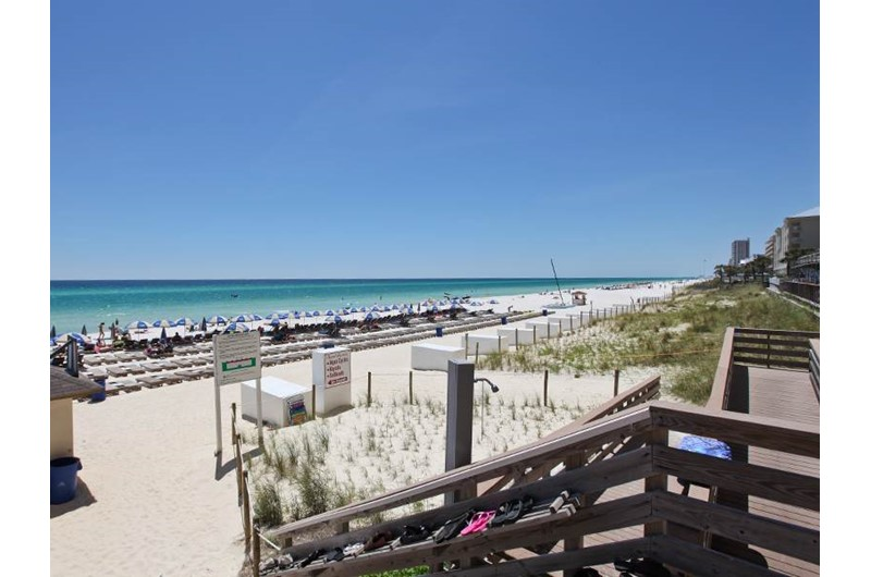 Easy access to the beach from Tidewater Beach Resort in Panama City Beach Florida