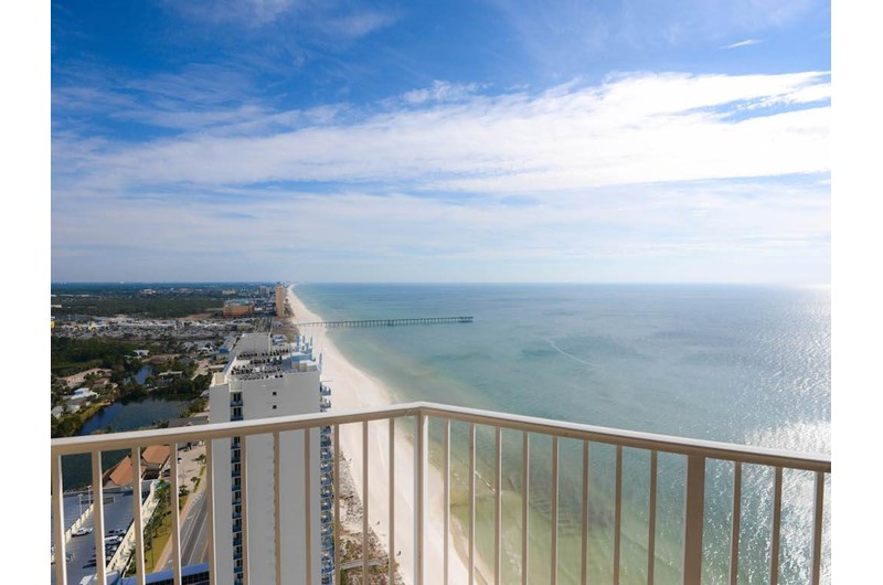 See for miles from the corner balcony at Tidewater Beach Resort in Panama City Beach Florida