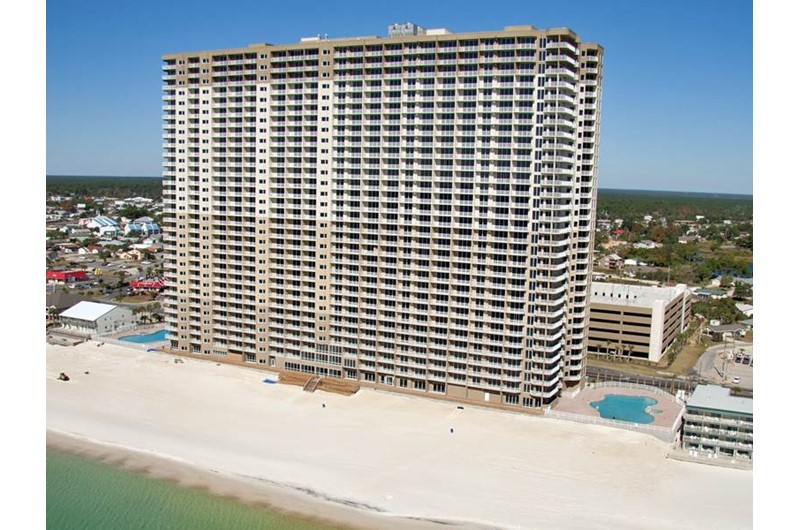 Tidewater Beach Resort in Panama City Beach Florida is located directly on the Gulf of Mexico