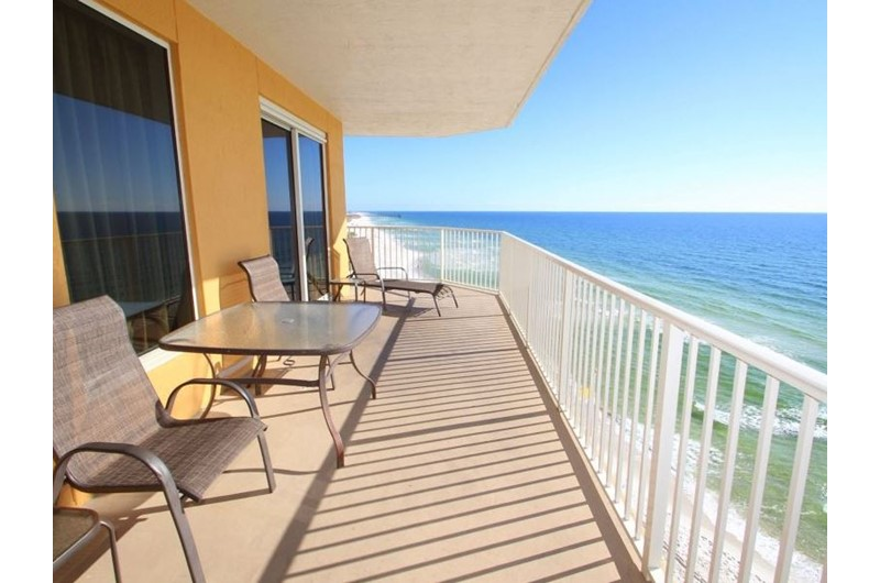 Nice view of the Gulf from corner unit at Treasure Island in Panama City Beach Florida