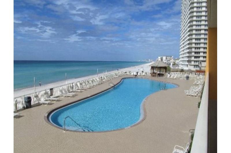 Massive pool at Treasure Island in Panama City Beach Florida