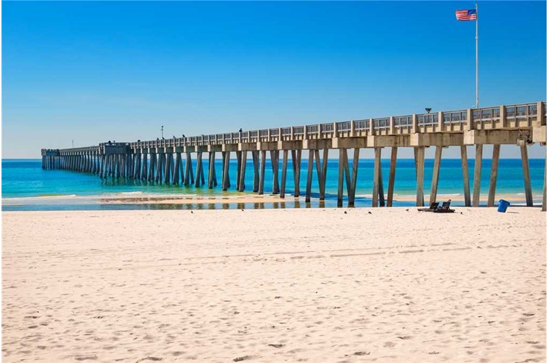Walk to the pier from Treasure Island in Panama City Beach Florida
