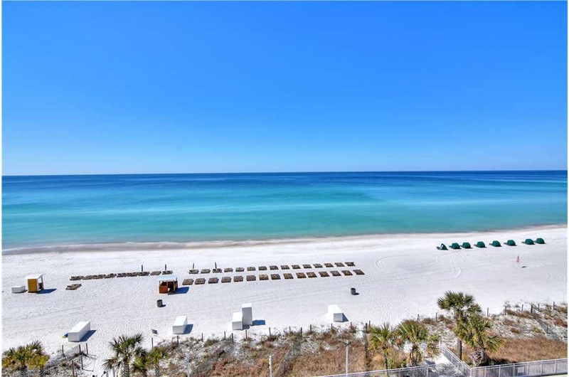 Enjoy an unobstructed view of the Gulf from Watercrest Condominiums in Panama City Beach Florida