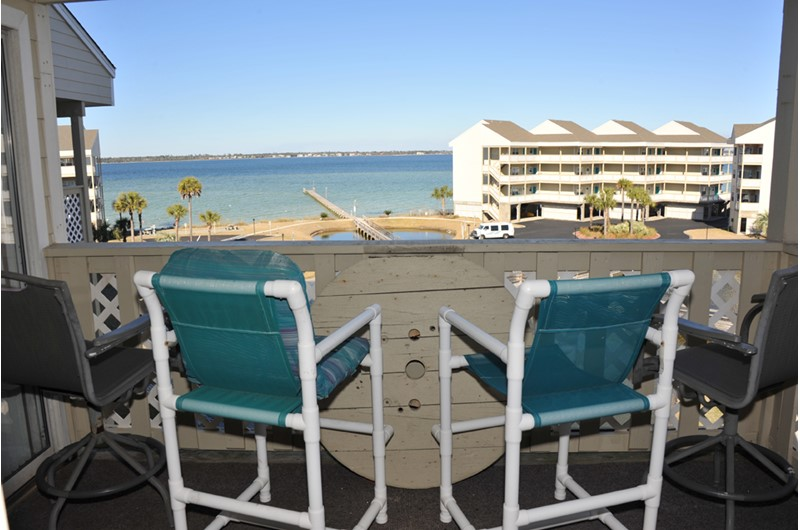 Take in the views of the bay at Baywatch Condos in Pensacola Beach Florida