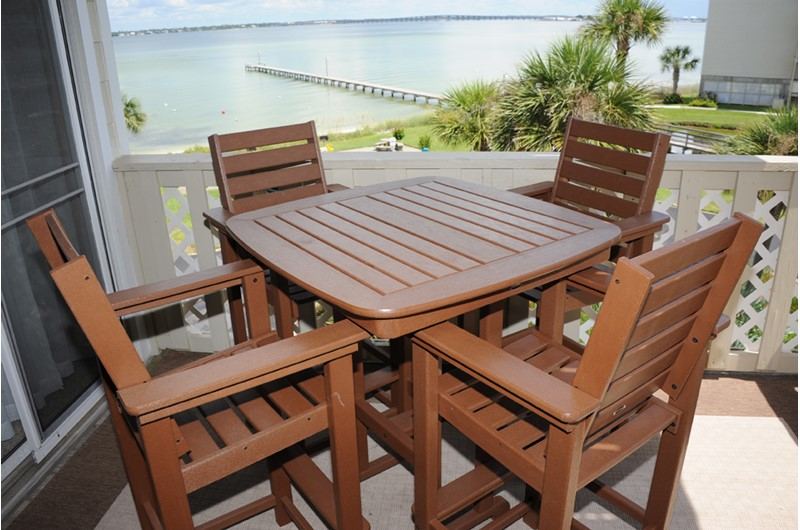 Relax on your balcony at Baywatch Condos in Pensacola Beach Florida