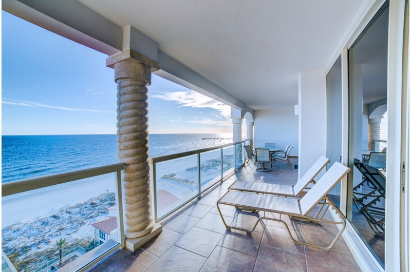 You will have an amazing view of the Gulf from Beach Club Resort and Spa in Pensacola Beach FL