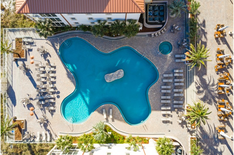 Such a gorgeous pool at Beach Club Resort and Spa in Pensacola Beach FL
