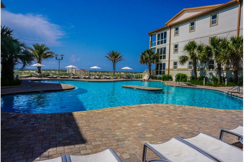 Beach front pool at Beach Club Resort and Spa in Pensacola Beach FL
