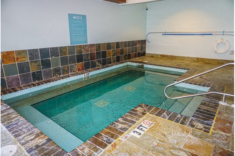 Large indoor hot tub at Beach Club Resort and Spa in Pensacola Beach FL