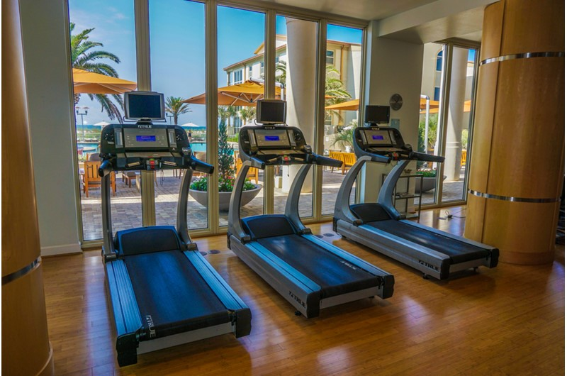 Large and well stocked gym at Beach Club Resort and Spa in Pensacola Beach FL