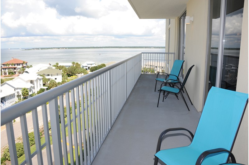 You have large balconies at Emerald Dolphin in Pensacola Beach FL