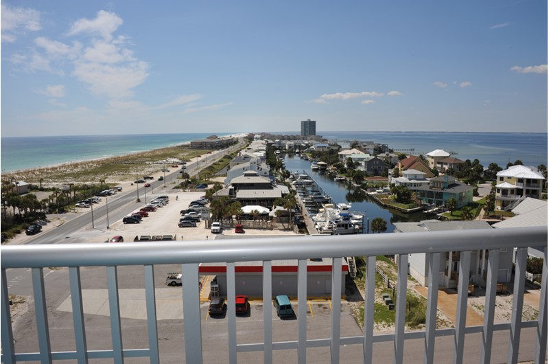 Am amazing view from Emerald Dolphin in Pensacola Beach Florida