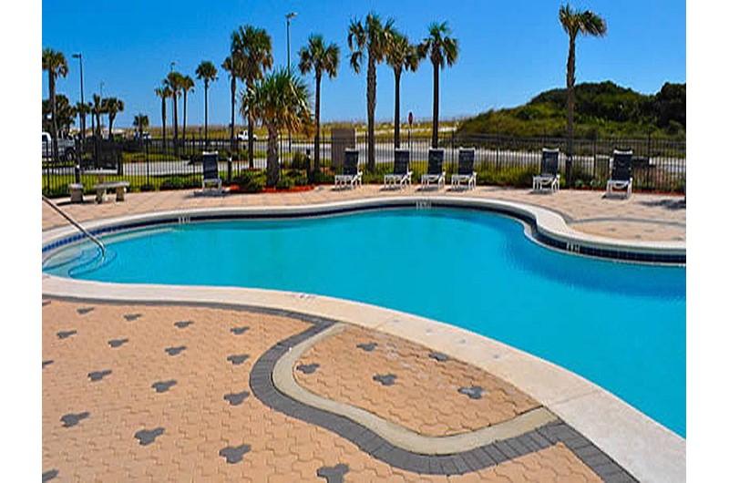 Nice pool area at Emerald Dolphin in Pensacola Beach Florida