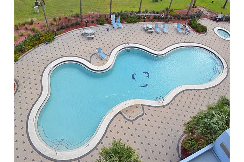 View the pool from Emerald Dolphin in Pensacola Beach Florida