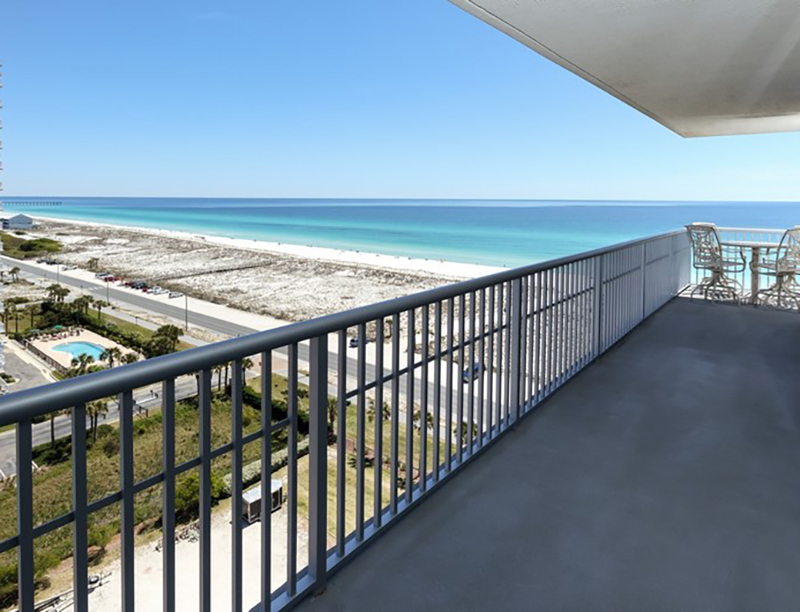 Big views from your balcony at Emerald Dolphin in Pensacola Beach Florida