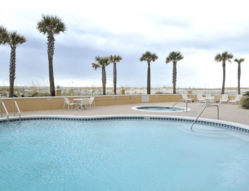 Huge pool at Emerald Isle in Pensacola Beach Florida