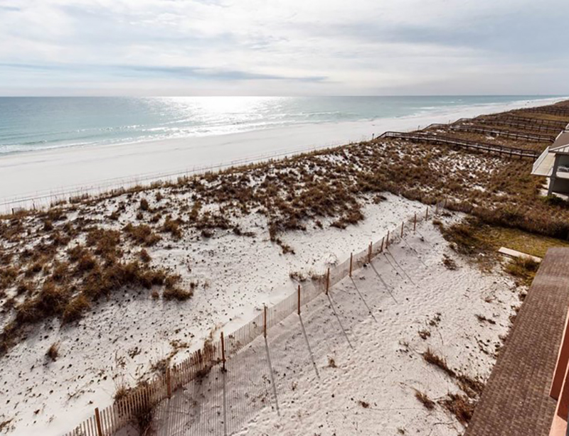 Enjoy the big view of the Gulf and beach from Gulf Winds in Pensacola Beach FL