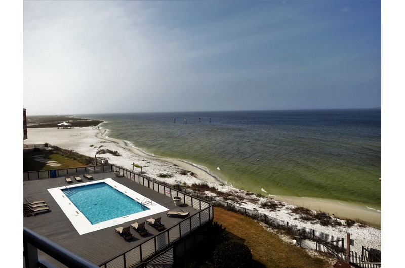 Easy access to pool and beach at Palm Beach Club in Pensacola Beach Florida