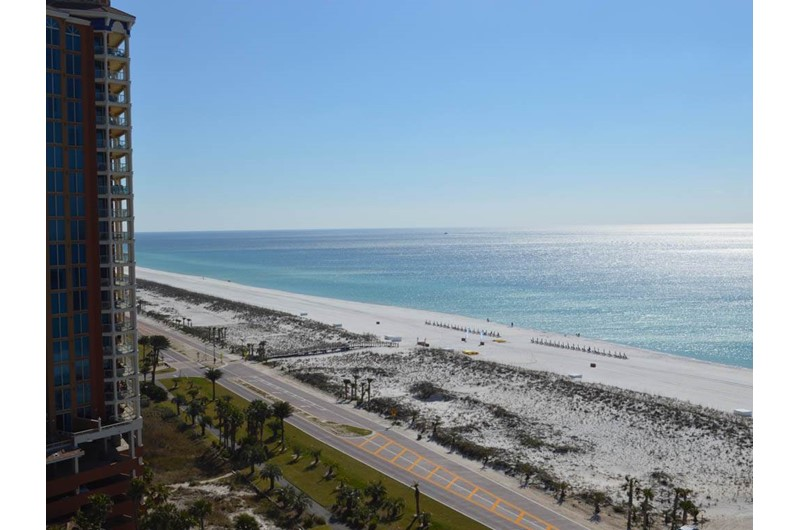 Get a lovely view of the Gulf from Portofino in Pensacola Beach Florida