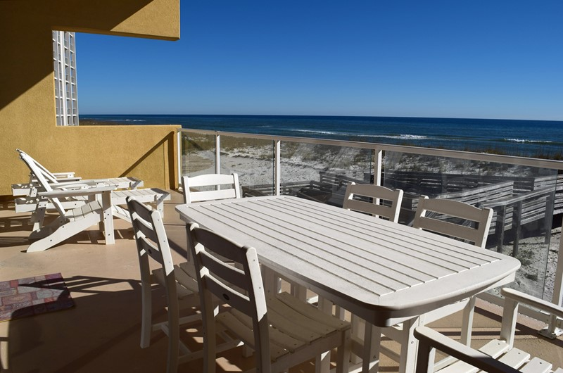 Beautiful balcony view from Regency Cabanas in Pensacola Beach Florida