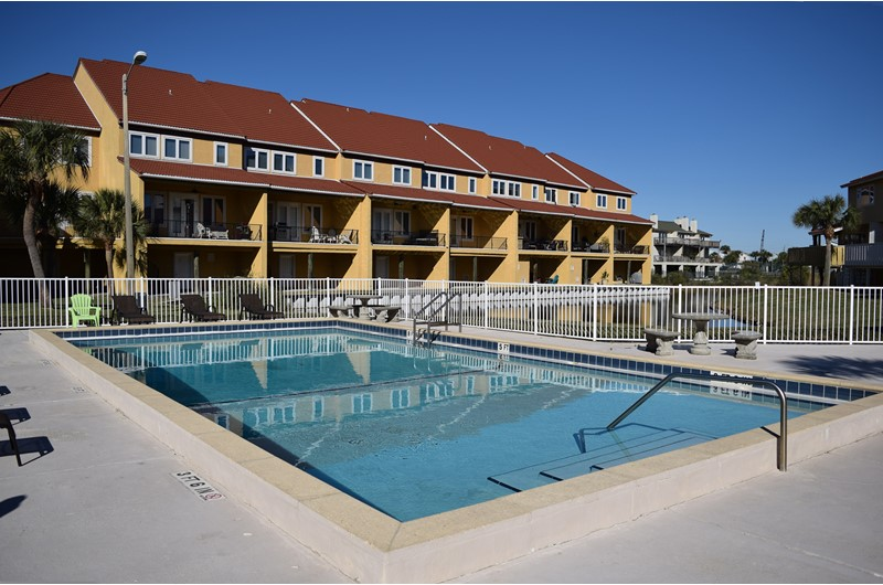 Nice pool area at Regency Cabanas in Pensacola Beach Florida