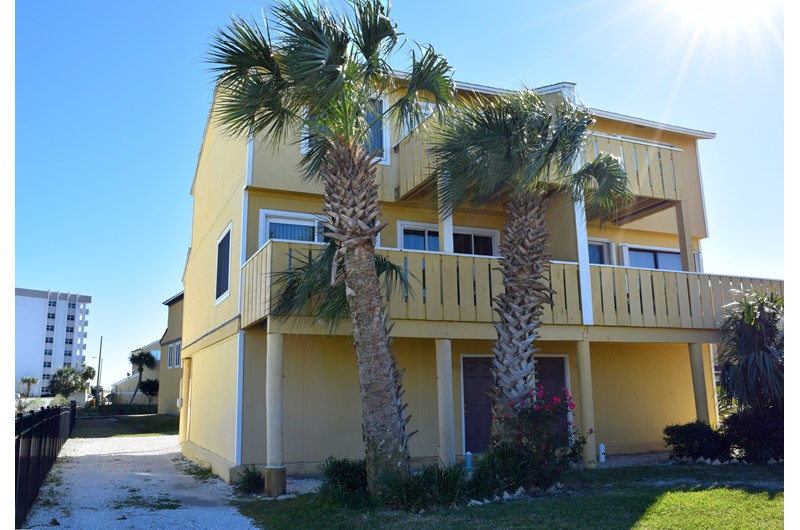 Regency Cabanas in Pensacola Beach Florida is directly beach front