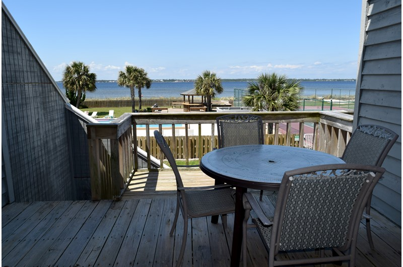 Look directly out into the Gulf from Regency Cabanas in Pensacola Beach Florida