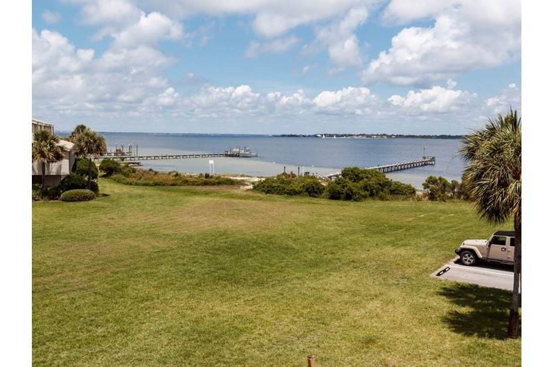 Great view of grounds and water from Santa Rosa Dunes in Pensacola Beach Florida
