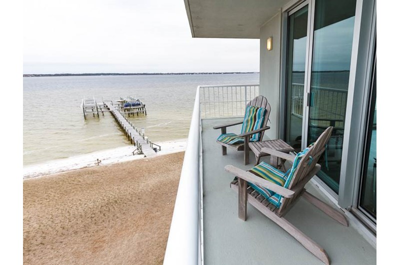 Nice view of the water from Tristan Towers in Pensacola Beach Florida