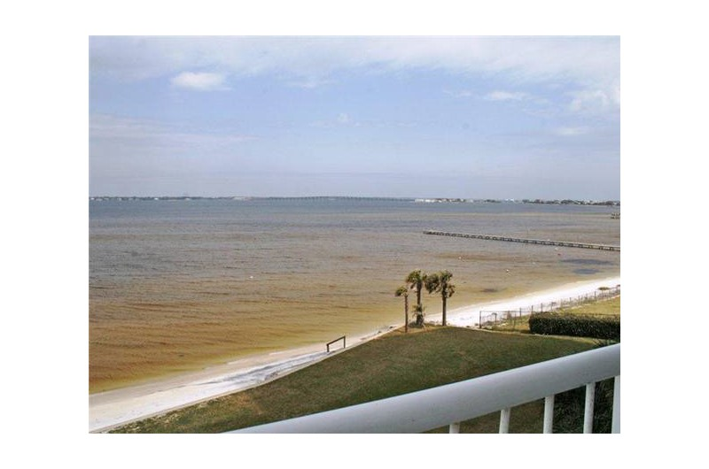 Big views of the water from Tristan Towers in  Pensacola Beach Florida