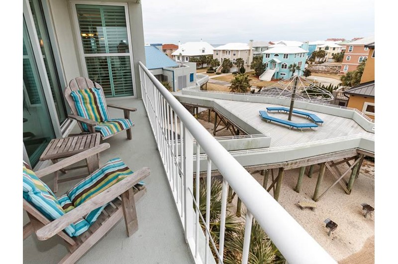 Balcony view of Tristan Towers in Pensacola Beach Florida