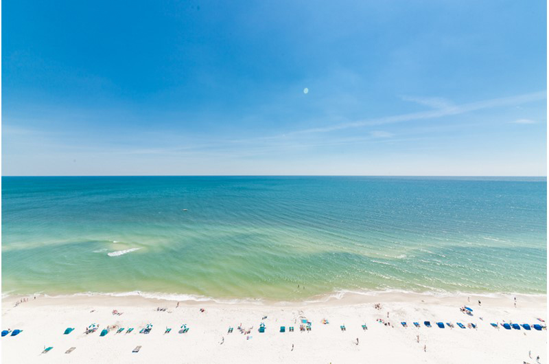 Perfect unobstructed view of the Gulf from Beach Colony in Perdido Key FL
