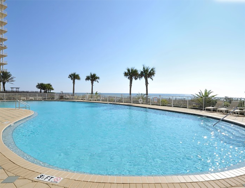 Huge pool to swim in at Beach Colony in Perdido Key FL