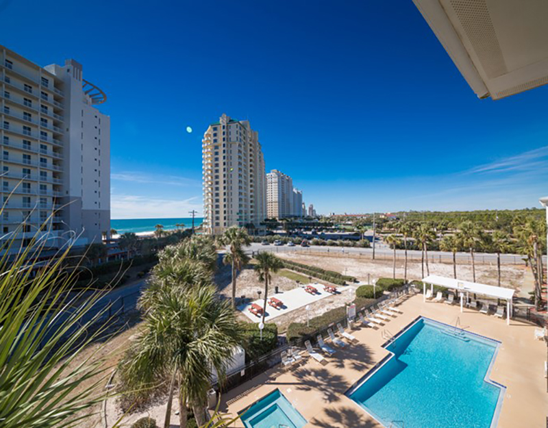 Amazing view of the pool and beach from Grand Caribbean in Perdido Key FL