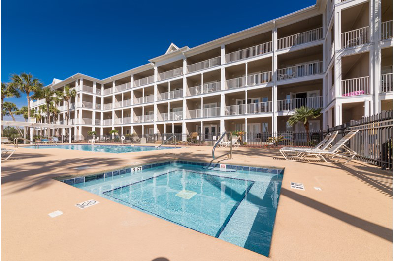 Enjoy the option of the pool or hot tub at Grand Caribbean in Perdido Key FL