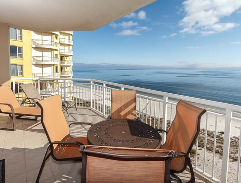 Relax on your balcony and take in the view at Indigo Condo in Perdido Key Florida