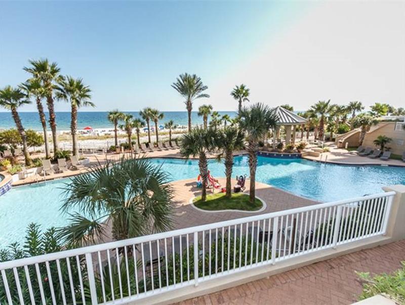Gorgeous pool right on the beach at  Indigo Condo in Perdido Key Florida