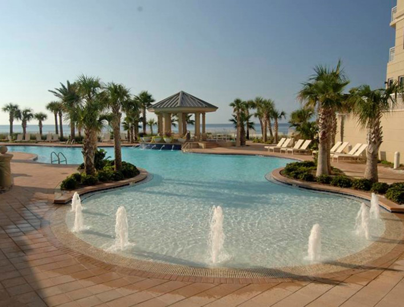 There is plenty of room around the pool for everyone at  Indigo Condo in Perdido Key Florida