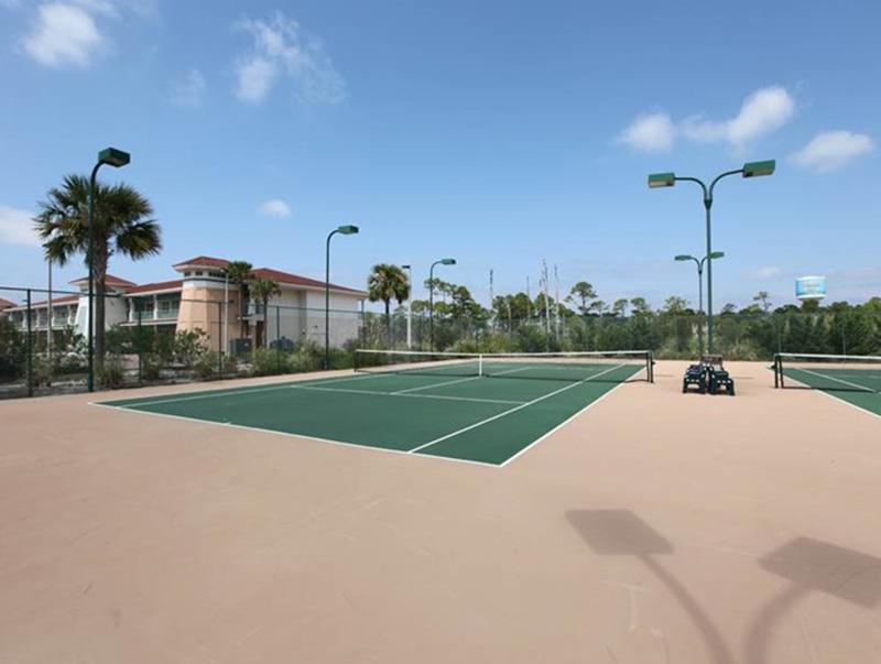 Play a round of tennis at  Indigo Condo in Perdido Key Florida