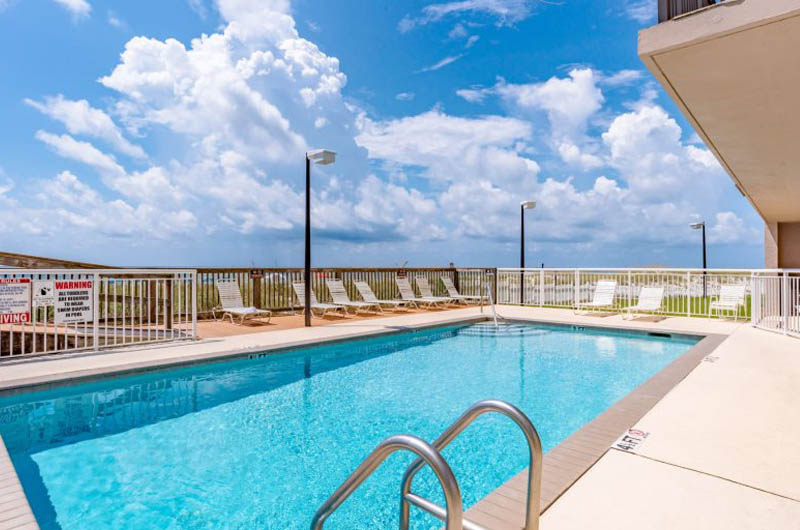 Ocean Breeze East view from pool out to Perdido Beach